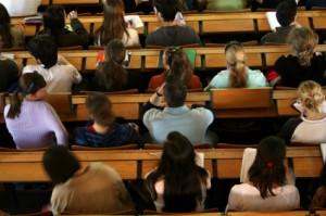 Grad school classroom